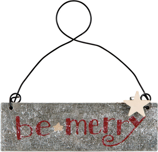 Xmas Ornament - Be Merry - Set Of 12 (Pack Of 2) 23959 By Primitives By Kathy