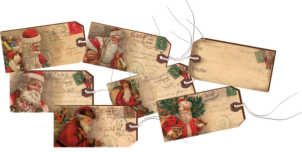 25123 Gift Tag Set - Vintage Santa - Set Of 4 By Primitives by Kathy