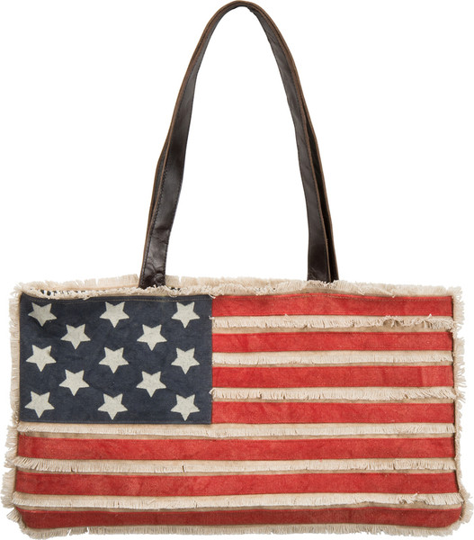 27070 Tote Bag - American Flag - Set Of 2 By Primitives by Kathy
