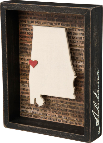 Box Sign - Alabama - Set Of 2 (Pack Of 2) 28224 By Primitives By Kathy