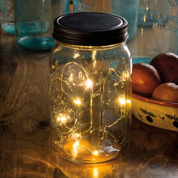 29295 Mason Jar Lid - Wire Lights 5L - Set Of 12 By Primitives by Kathy