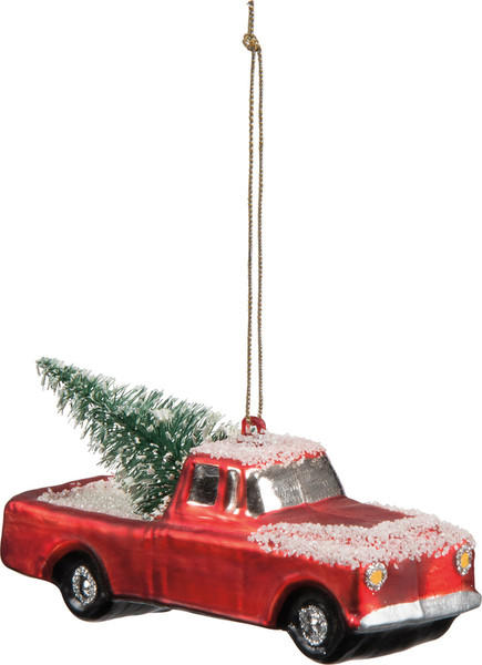 29421 Glass Xmas Ornament - Small Truck - Set Of 6 By Primitives by Kathy