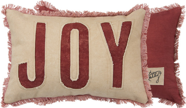31524 Pillow - Joy Red - Set Of 2 By Primitives by Kathy