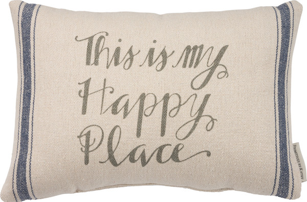 Pillow - Happy Place - Set Of 2 (Pack Of 2) 31689 By Primitives By Kathy