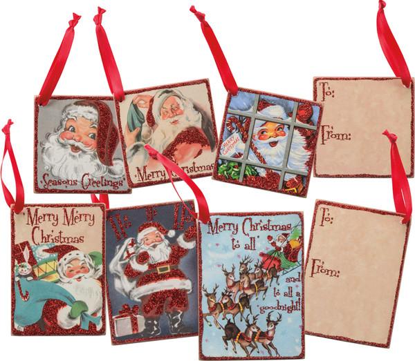 32284 Gift Tag Set - Retro Santa - Set Of 4 By Primitives by Kathy