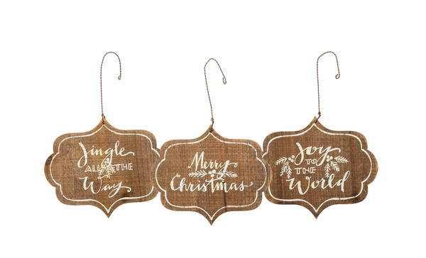 32436 Xmas Ornament Set - Merry Christmas - Set Of 4 By Primitives by Kathy