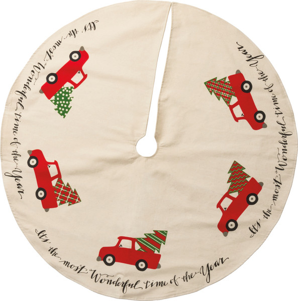 32511 Tree Skirt - Truck - Set Of 2 By Primitives by Kathy