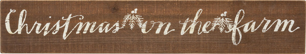 Slat Sign - On The Farm - Set Of 2 (Pack Of 2) 32714 By Primitives By Kathy