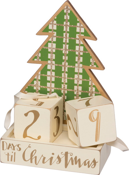 Block Countdown - Tree - Set Of 2 (Pack Of 2) 33154 By Primitives By Kathy