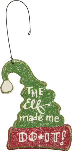 Xmas Ornament - The Elf - Set Of 12 (Pack Of 2) 33640 By Primitives By Kathy