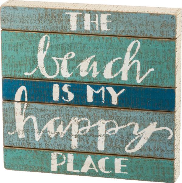 34500 Slat Box Sign - Happy Place - Set Of 2 By Primitives by Kathy