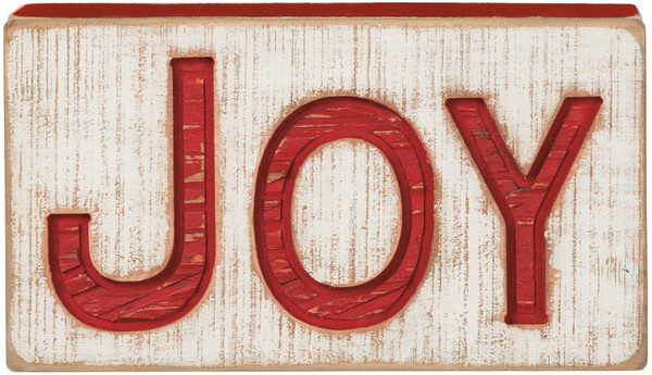 Carved Sign - Joy - Set Of 2 (Pack Of 2) 35885 By Primitives By Kathy