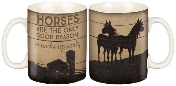 Mug - Horses (Pack Of 4) 36905 By Primitives By Kathy