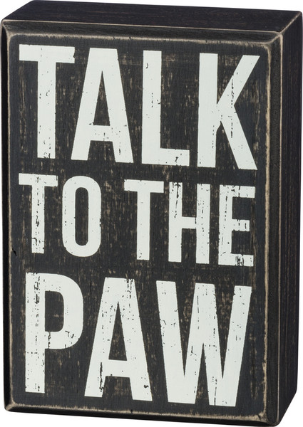 Box Sign - Paw - Set Of 2 (Pack Of 3) 37534 By Primitives By Kathy