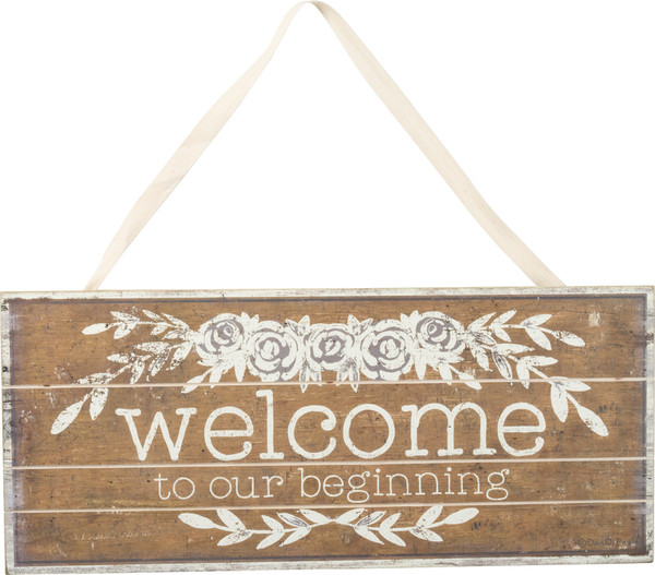 Slat Sign - Welcome - Set Of 2 (Pack Of 2) 37745 By Primitives By Kathy