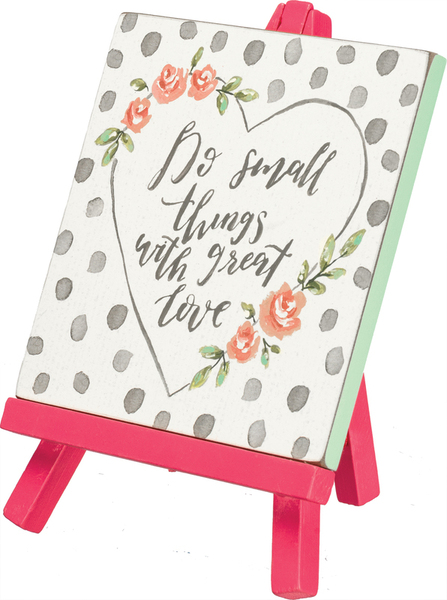 Easel - Great Love - Set Of 2 (Pack Of 3) 37845 By Primitives By Kathy
