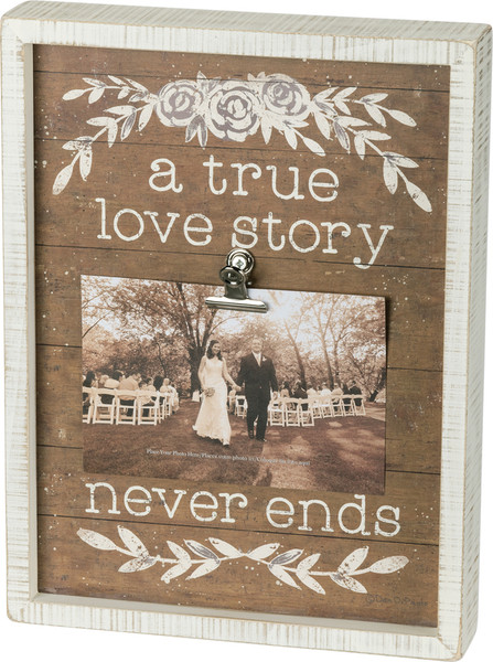 38091 Inset Box Frame - Love Story - Set Of 2 By Primitives by Kathy