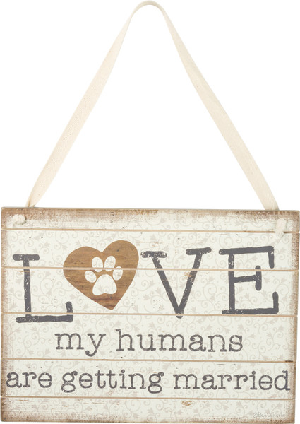 Slat Sign - My Humans - Set Of 2 (Pack Of 2) 38092 By Primitives By Kathy