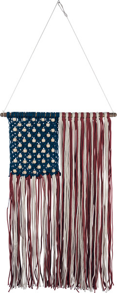 38302 Macrame - Flag - Set Of 2 By Primitives by Kathy