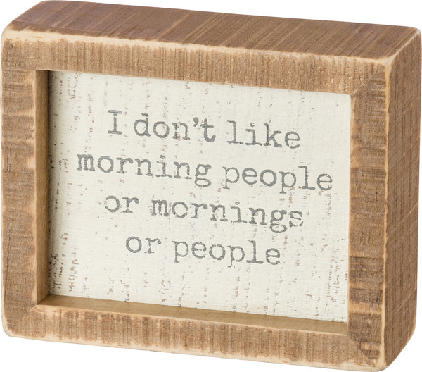 Inset Box Sign - I Don'T Like - Set Of 2 (Pack Of 3) 38486 By Primitives By Kathy