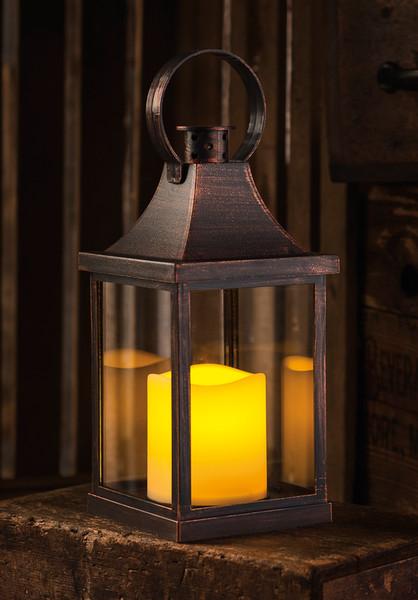 38802 Led Lantern - Antique Bronze - Set Of 6 By Primitives by Kathy