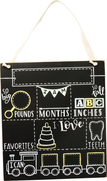 Milestone Board - Baby - Set Of 2 (Pack Of 2) 39056 By Primitives By Kathy