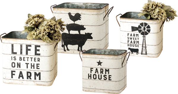 39059 Bin Set - Farmhouse - Set Of 2 By Primitives by Kathy