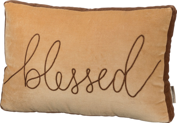 39110 Pillow - Blessed - Set Of 2 By Primitives by Kathy