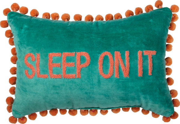 39118 Pillow - Sleep On It - Set Of 2 By Primitives by Kathy