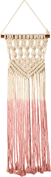 39313 Macrame - Smallall Dip-Dye Pink - Set Of 2 By Primitives by Kathy