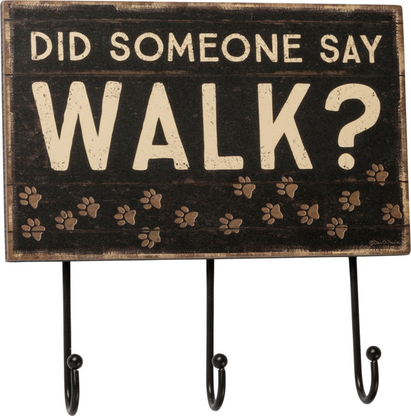 Hook Board - Say Walk? - Set Of 2 (Pack Of 2) 39355 By Primitives By Kathy