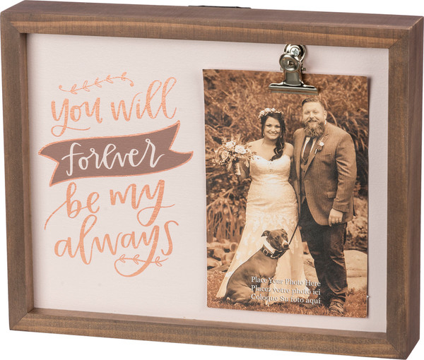 Inset Box Frame - Be My Always - Set Of 2 (Pack Of 2) 39497 By Primitives By Kathy