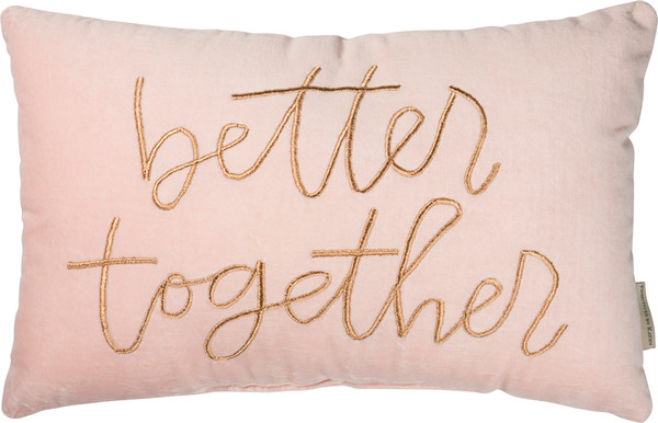 39522 Pillow - Better Together - Set Of 2 By Primitives by Kathy