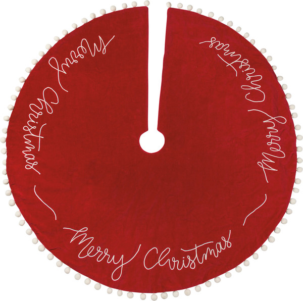 39647 Tree Skirt - Merry Christmas - Set Of 2 By Primitives by Kathy