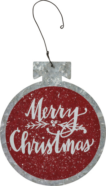 39684 Xmas Ornament - Merry Christmas - Set Of 12 By Primitives by Kathy