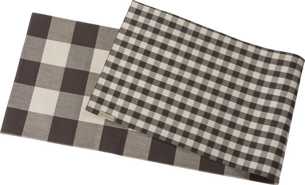 39789 Runner - Buffalo Check - Set Of 2 By Primitives by Kathy