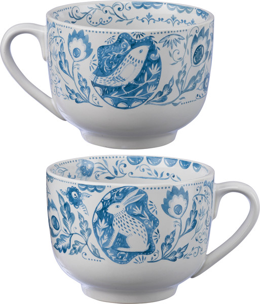 Mug - Bird & Rabbit (Pack Of 4) 39831 By Primitives By Kathy