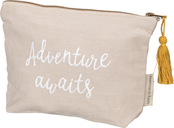 39885 Zipper Pouch - Adventure - Set Of 4 By Primitives by Kathy
