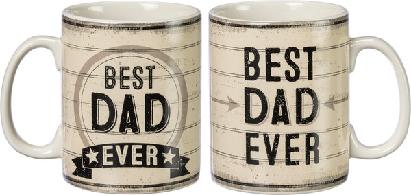 Mug - Best Dad Ever (Pack Of 4) 39943 By Primitives By Kathy