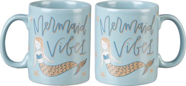 Mug - Mermaid Vibes (Pack Of 4) 39980 By Primitives By Kathy