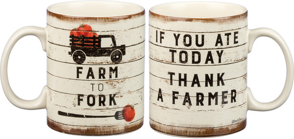 Mug - Farm To Fork (Pack Of 4) 82096 By Primitives By Kathy