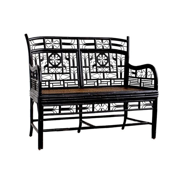 CAN100.2 Red Egg Indochine Double Settee