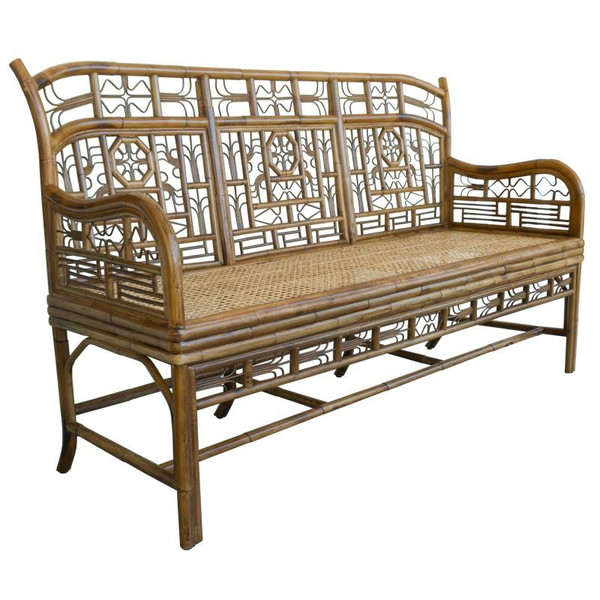 CAN100.3 Red Egg Indochine Triple Settee