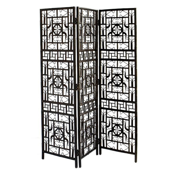 CAN222 Red Egg Indochine Folding Screen