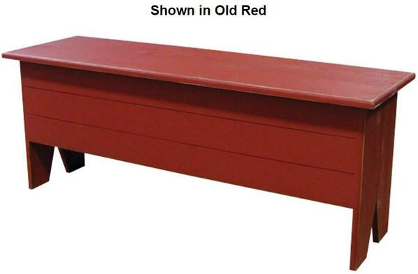 2448 Sawdust 4' Long Large Storage Bench