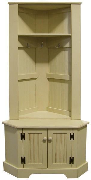 """54 Sawdust 50"""" Tall Corner Locker Cabinet"""