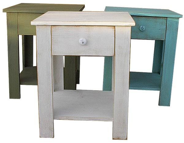LLE01 Sawdust End Table With Drawer