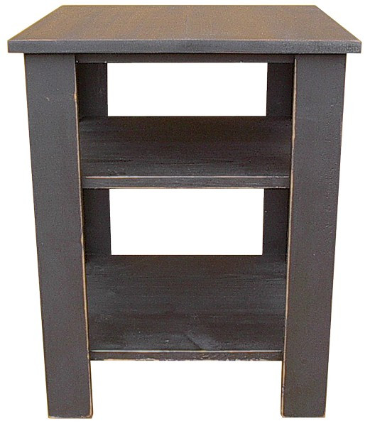 LLSH5 Sawdust End Table With Shelves