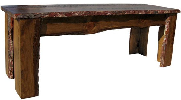 RBN48 Sawdust 4' Long Rustic Bench