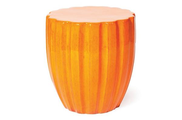 308FT310P2O Orange Scallop Stool